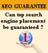 SEO Guarantee : Can top search engine placement be guaranteed ?